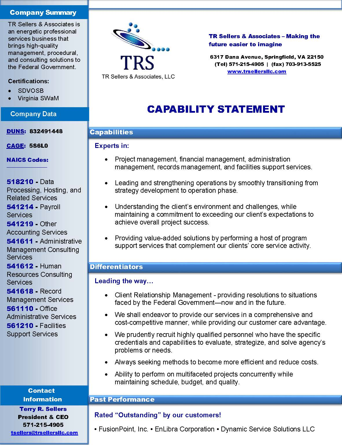 associates llc capability statement home capability statement ...